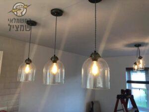 תאורה תלויה מודרנית במטבח