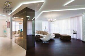 התקנת תאורה נסתרת מעוצבת בדירה בחדרה בשכונת עין הים