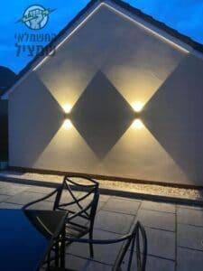תיקון תאורה חיצונית שמקצרת בבית בנס ציונה בשכונת מליבו על ידי חשמלאי מוסמך