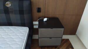 התקנת שקע כפול בחדר שינה בדירה בשכונת ברנע באשקלון