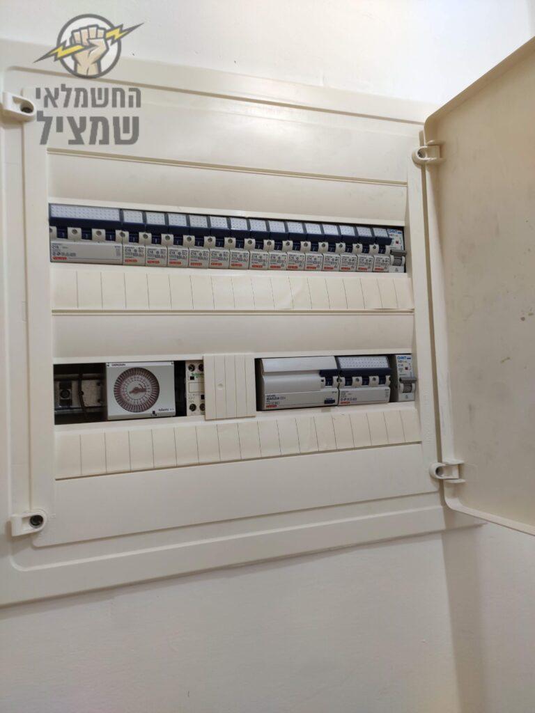 החלפת פחת בלוח חשמל בדירת 4 חדרים