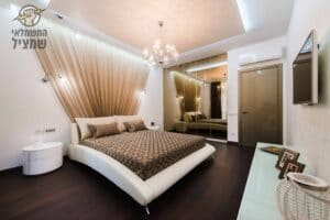 תכנון וייעוץ תאורה לדירה חדשה מקבלן כולל חדרי שינה וסלון ופינת אוכל