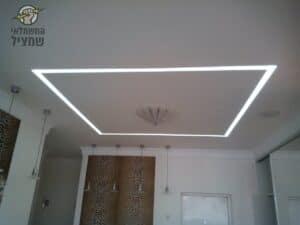 התקנת גופי תאורה מסילות לד בעיצוב מסביב למנורה