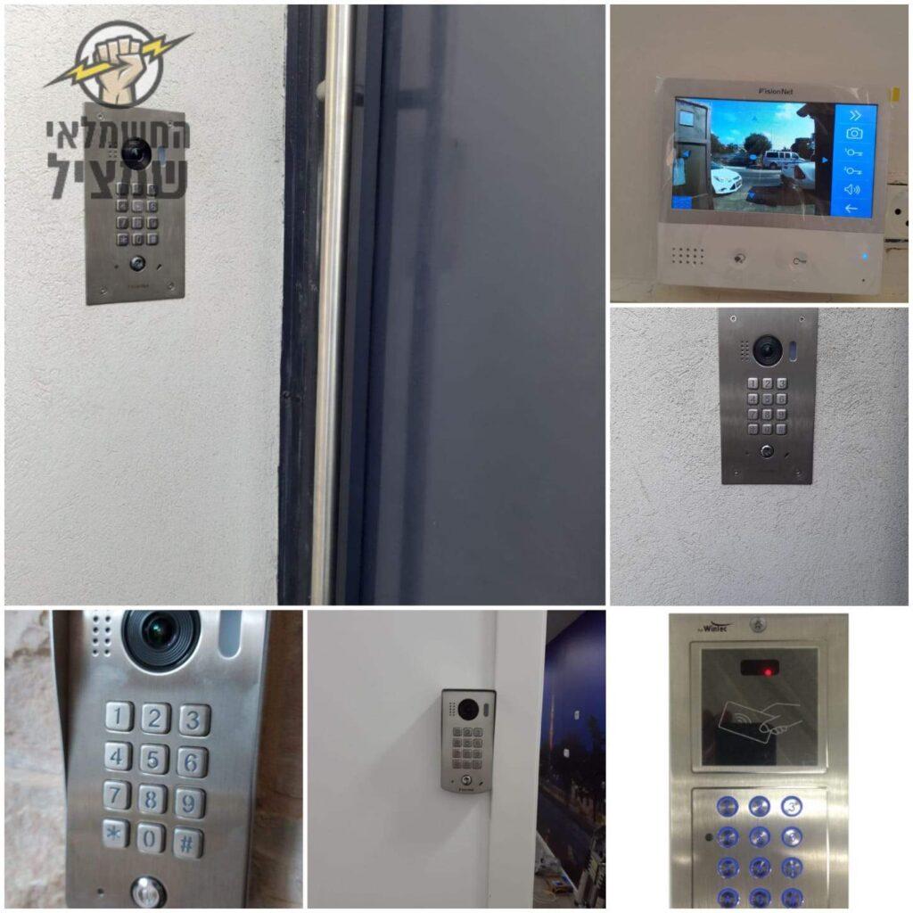 התקנת אינטרקום כולל מצלמה לשליטה מלאה בכניסה לבית