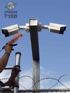 התקנת מצלמות אבטחה בסביב למחסן לוגיסטי באיזור תעשייה באור יהודה